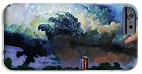 Field. Cloud iPhone Cases - Storm Clouds Over Joplin iPhone Case by John Lautermilch