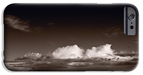 Badlands iPhone Cases - Storm Over Badlands iPhone Case by Steve Gadomski