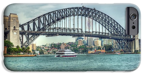 Recently Sold -  - Business iPhone Cases - Storm Over Sydney Harbour Bridge iPhone Case by Chris Smith