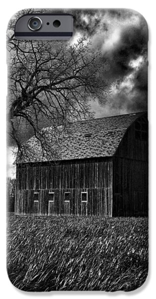 Vintage Barns iPhone Cases - Stormy iPhone Case by Bonnie Bruno