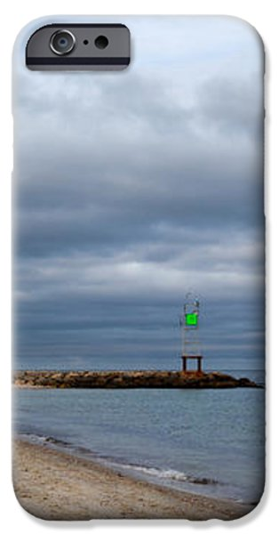 Stormy Evening Bass River Jetty Cape Cod iPhone Case by Michelle Wiarda