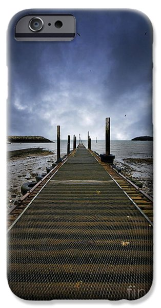 Angling iPhone Cases - Stormy Jetty iPhone Case by Meirion Matthias