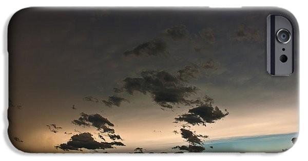 Lightning Photographer iPhone Cases - Stormy Silouette iPhone Case by Chris  Allington