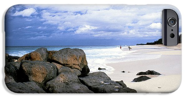 Approaching Storm iPhone Cases - Stormy Sky Banzai Beach iPhone Case by Thomas R Fletcher