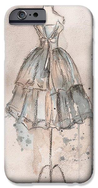 Strapless Champagne Dress iPhone Case by Lauren Maurer