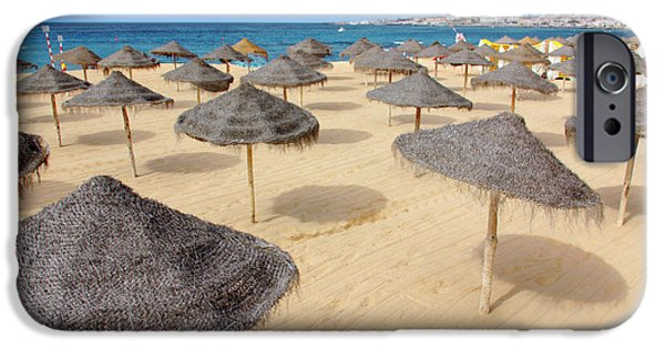 Ocean Panorama iPhone Cases - Straw Sunshades iPhone Case by Carlos Caetano