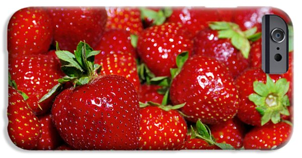 Agriculture iPhone Cases - Strawberries iPhone Case by Carlos Caetano