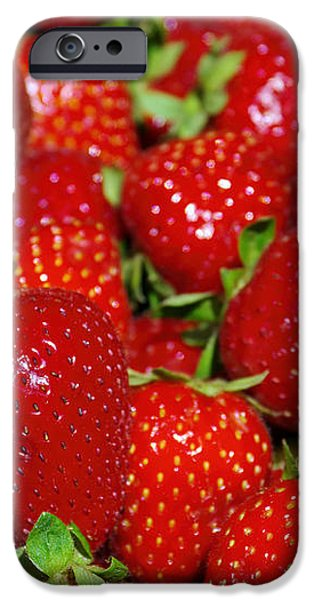 strawberries iPhone Case by Carlos Caetano