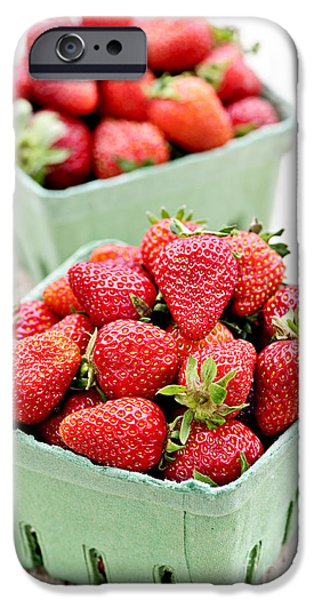 Strawberries iPhone Case by Elena Elisseeva