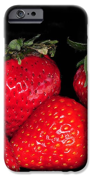 Strawberries iPhone Case by Paul Ward