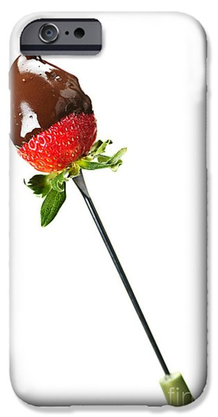 Strawberry dipped in chocolate iPhone Case by Elena Elisseeva