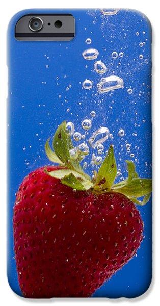 Strawberry Soda Dunk 5 iPhone Case by John Brueske