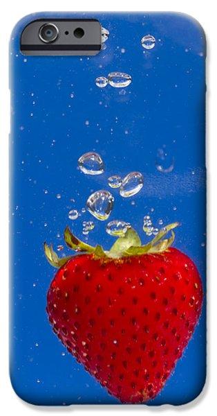 Strawberry Soda Dunk 6 iPhone Case by John Brueske