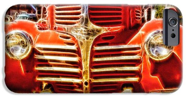 Old Cars iPhone Cases - Strawberry Truck iPhone Case by Mo T