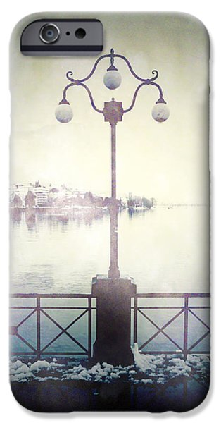Creepy iPhone Cases - Street Lamp iPhone Case by Joana Kruse