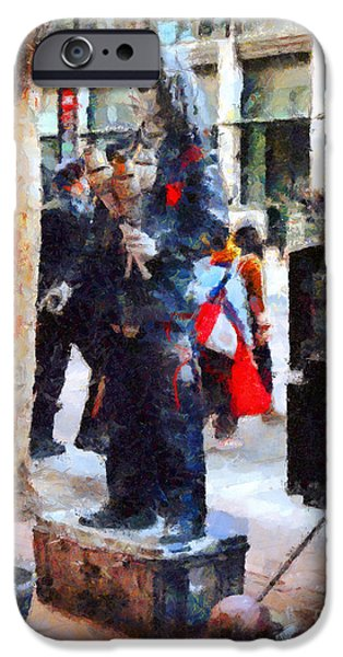 Juggling iPhone Cases - Street Performer in Downtown San Francisco . 7D4246 iPhone Case by Wingsdomain Art and Photography