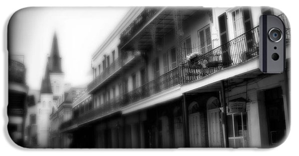 Historical Pictures iPhone Cases - Street to Jackson Square iPhone Case by Perry Webster