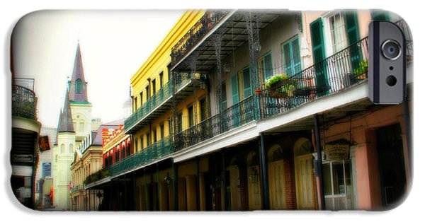 Historical Pictures iPhone Cases - Streets of New Orleans iPhone Case by Perry Webster