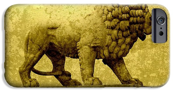 Lion Art iPhone Cases - Strength iPhone Case by Carol Groenen