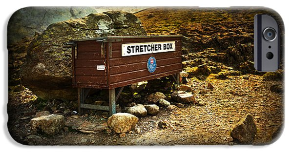 Rural Decay Digital Art iPhone Cases - Stretcher Box iPhone Case by Svetlana Sewell
