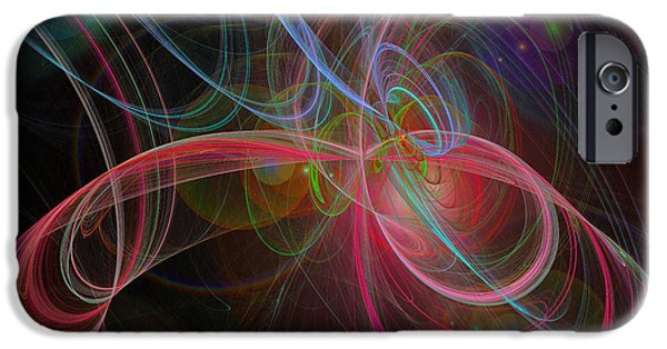 Fine Art Fractal iPhone Cases - Strings In Motion iPhone Case by Andee Design