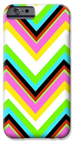 Stripes Digital Art iPhone Cases - Stripe iPhone Case by Louisa Knight