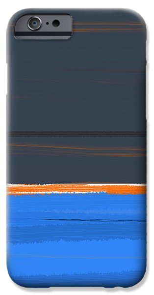 Office iPhone Cases - Stripe Orange iPhone Case by Naxart Studio