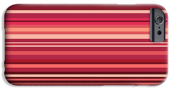 Surrealism Digital iPhone Cases - Striped iPhone Case by Sumit Mehndiratta