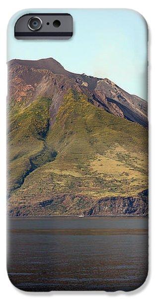 Stromboli Volcano, Aeolian Islands iPhone Case by Richard Roscoe