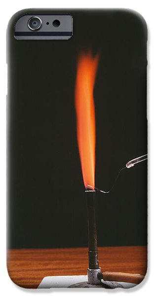Strontium Flame Test iPhone Case by Andrew Lambert Photography