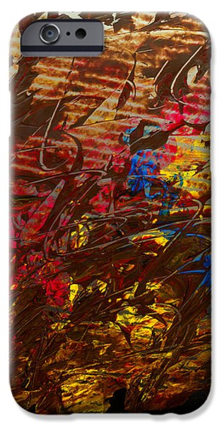 Swiss Mixed Media iPhone Cases - Struggle Through   iPhone Case by Manuel Sueess