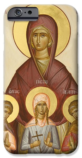 Sts Sophia Faith Hope and Love iPhone Case by Julia Bridget Hayes