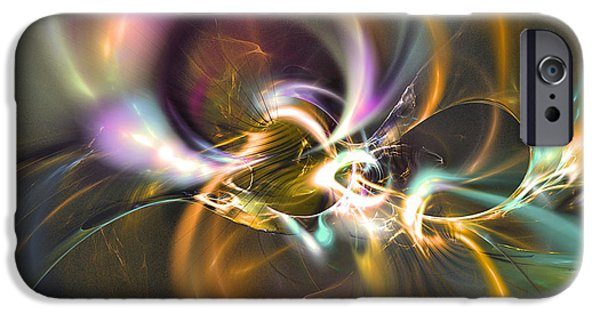 Colorful Abstract Algorithmic Contemporary iPhone Cases - Stuck on you - Fractal art iPhone Case by Sipo Liimatainen