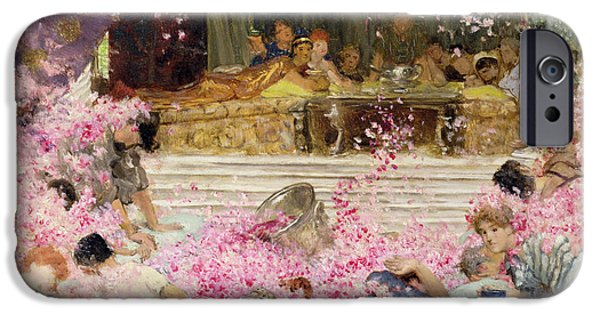 Roman Emperor iPhone Cases - Study for The Roses of Heliogabulus iPhone Case by Sir Lawrence Alma-Tadema
