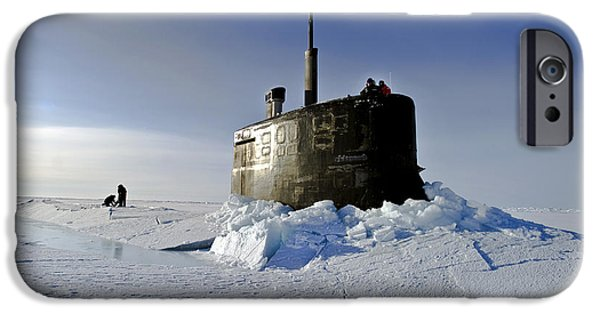 Con iPhone Cases - Submarine Uss Connecticut Surfaces iPhone Case by Stocktrek Images