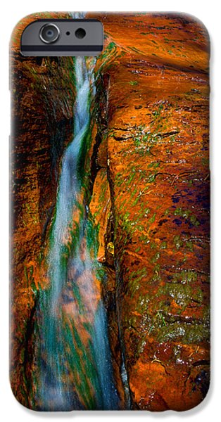 Creek iPhone Cases - Subways Fault iPhone Case by Chad Dutson