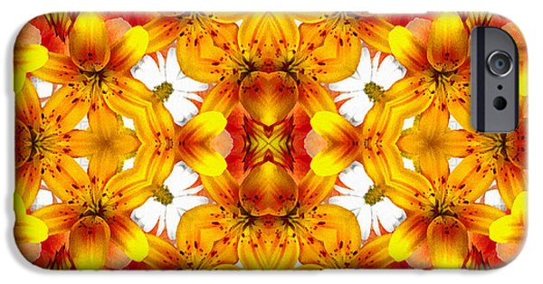 Daughter Gift iPhone Cases - Sudden Heat Mandala iPhone Case by Georgiana Romanovna