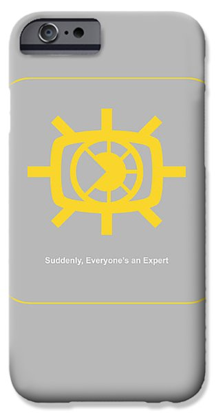 Graphic Design iPhone Cases - Suddenly Everyone is an expert iPhone Case by Naxart Studio