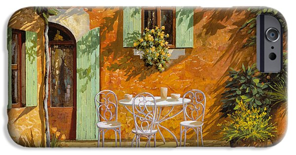 Dating iPhone Cases - Sul Patio iPhone Case by Guido Borelli
