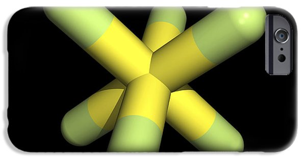 Pollutant iPhone Cases - Sulphur Hexafluoride Molecule iPhone Case by Friedrich Saurer