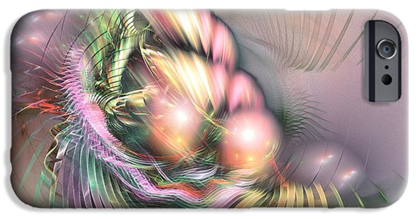 Colorful Abstract Algorithmic Contemporary iPhone Cases - Summer breeze - Fractal art iPhone Case by Sipo Liimatainen
