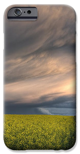 Summer Evening Storm Blowing Over Ripe iPhone Case by Dan Jurak