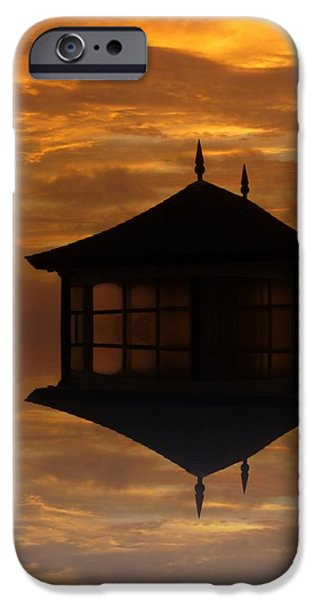 Reflecting Sunset iPhone Cases - Summer House iPhone Case by Sharon Lisa Clarke
