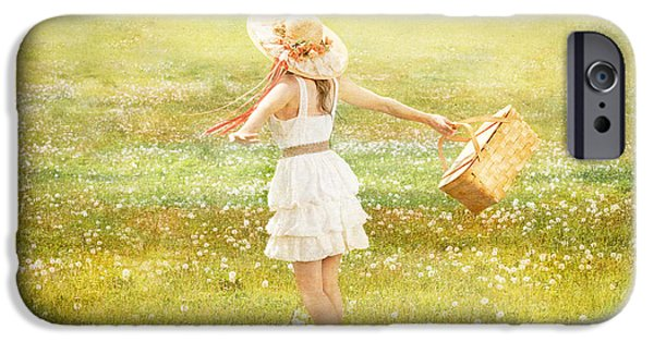 Daydreams Art Photographs iPhone Cases - Summer Picnic  iPhone Case by Cindy Singleton