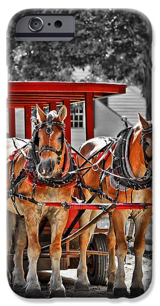 Carriages iPhone Cases - Summer Ride iPhone Case by Evelina Kremsdorf