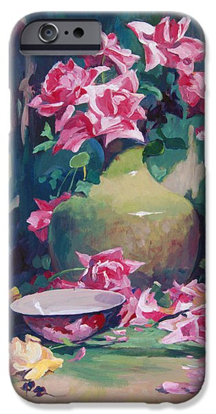 Still Life iPhone Cases - Summer Rose Arrangement iPhone Case by David Lloyd Glover