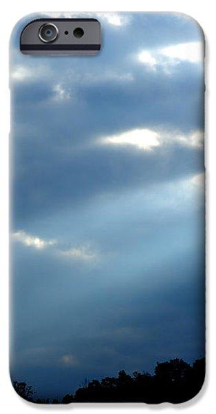 Sun breaks through Stormy Sky iPhone Case by Thomas R Fletcher