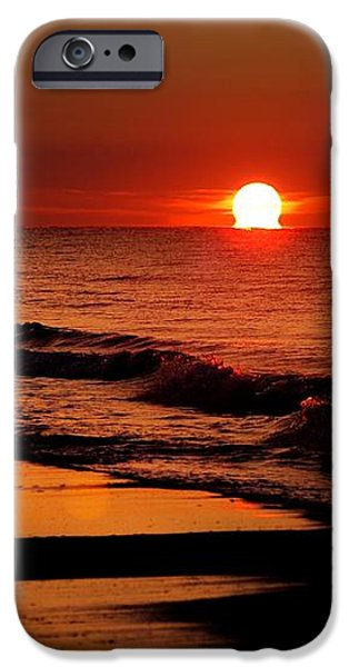 Sun emerging from the water iPhone Case by Michael Thomas