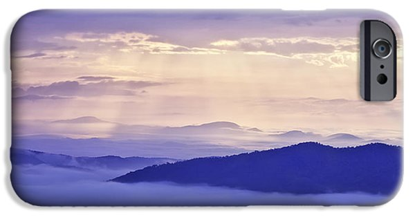 Cloudscape Photographs iPhone Cases - Sun Rays on the Parkway iPhone Case by Rob Travis
