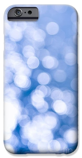 Blue Photographs iPhone Cases - Sun reflections on water iPhone Case by Elena Elisseeva